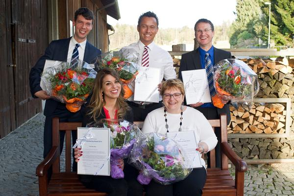 Daniel Weiss (far left) with the winners of the Volunteering Award