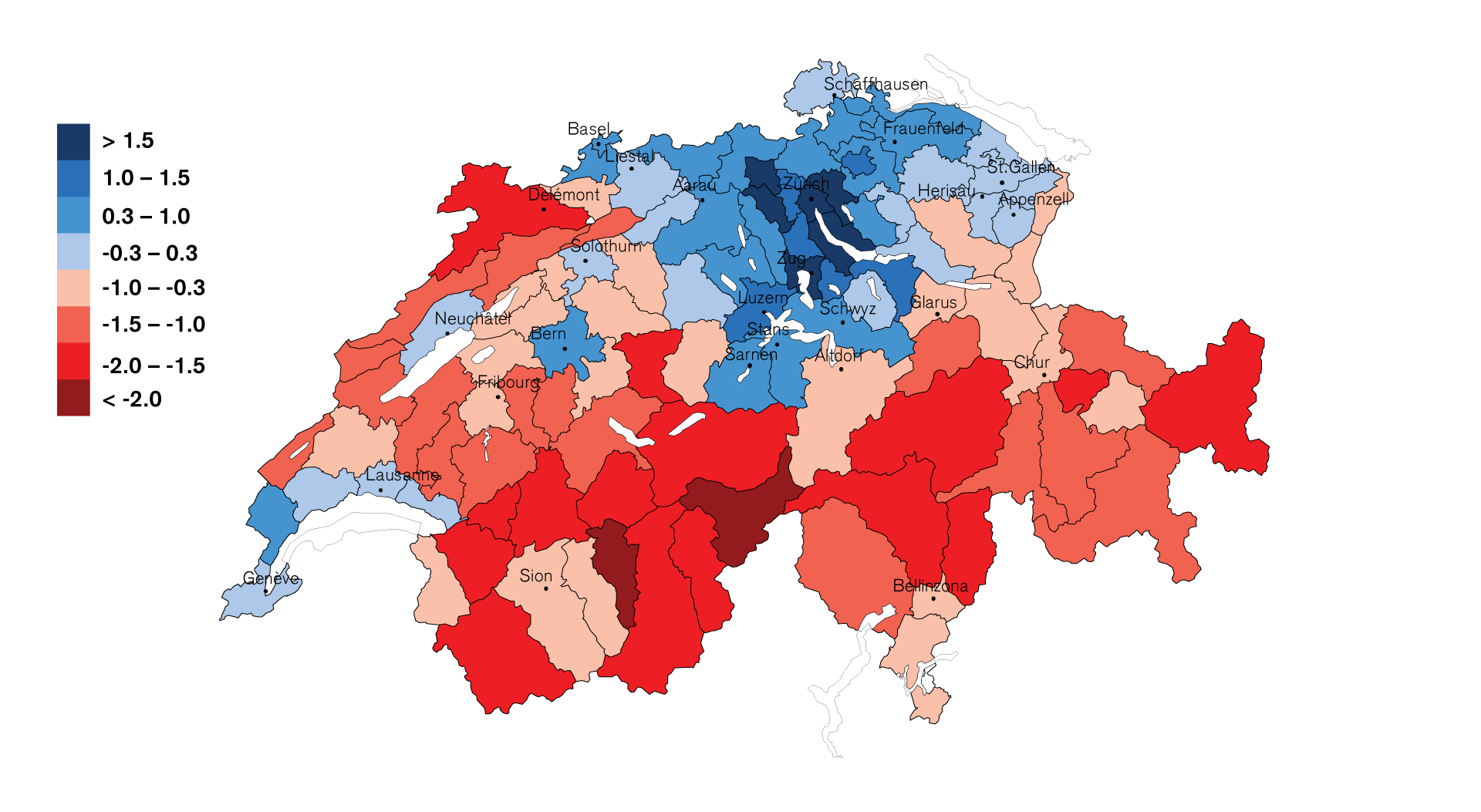 Locational Quality Indicator for Swiss Economic RegionsLocational Quality Indicator for Swiss Economic Regions