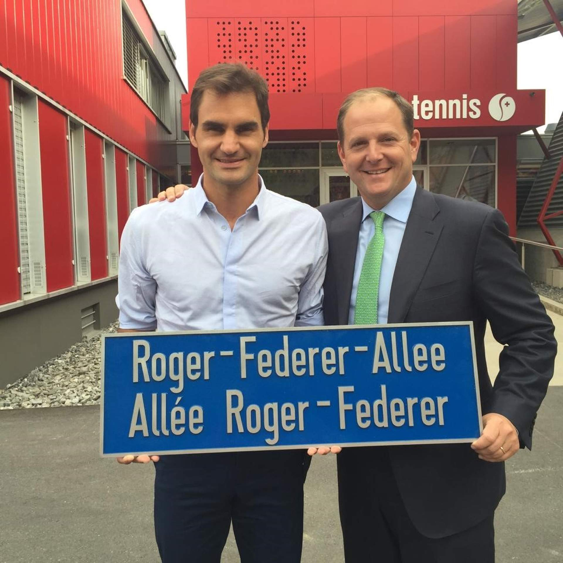 Roger Federer and his manager Tony Godsick