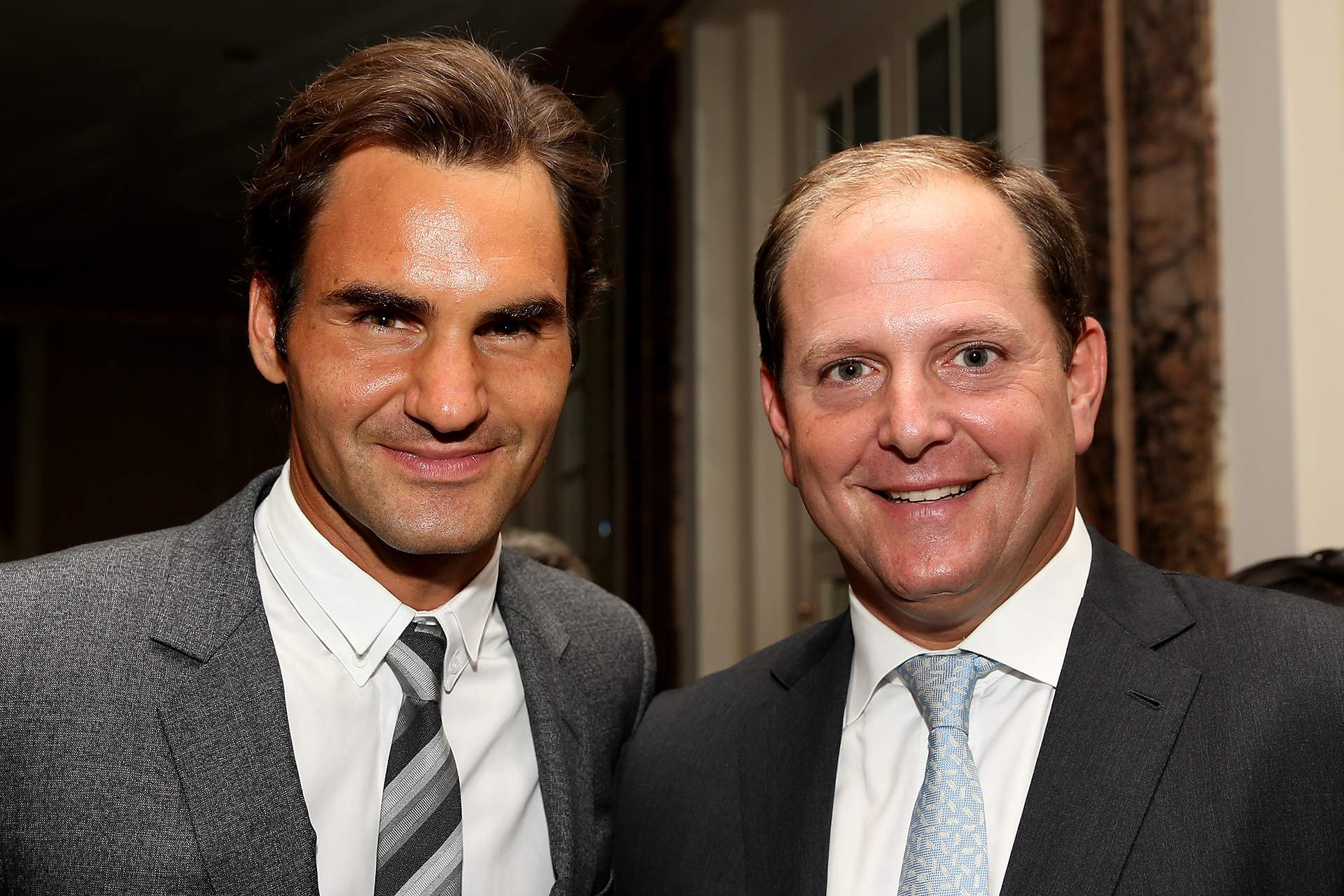 Roger Federer and Tony Godsick