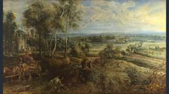 Peter Paul Rubens, A View of Het Steen in the Early Morning, probably 1636.