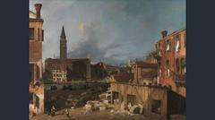 Canaletto. Venice: Campo S. Vidal and Santa Maria della Carità ('The Stonemason's Yard'), about 1725.