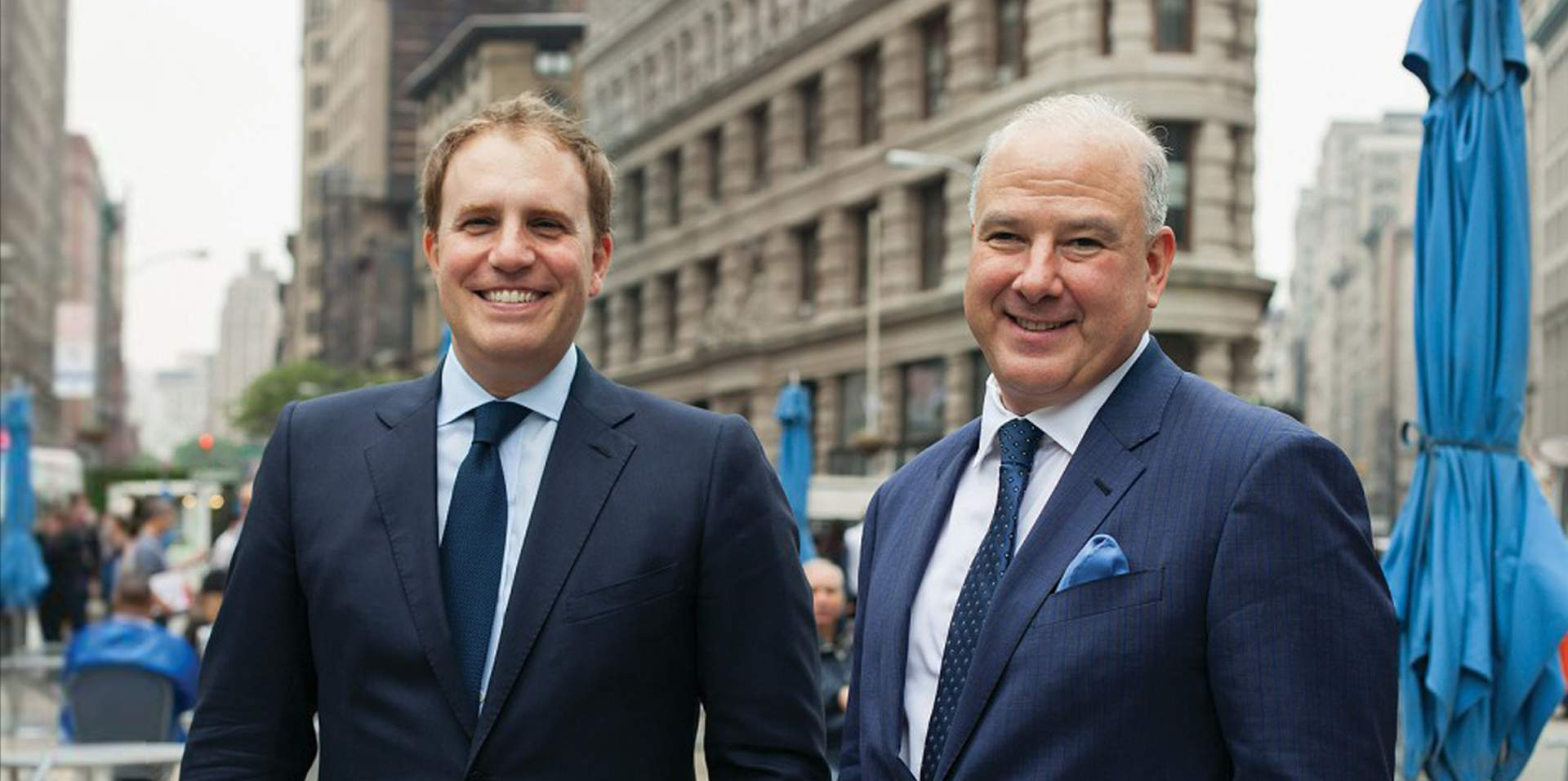 Gregory Grimaldi (left) and Alan Freudenstein, co-heads of Credit Suisse's fintech investment fund