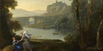 Claude. Landscape with Hagar and the Angel, 1646. Presented by Beaumont, 1828. © The National Gallery, London.