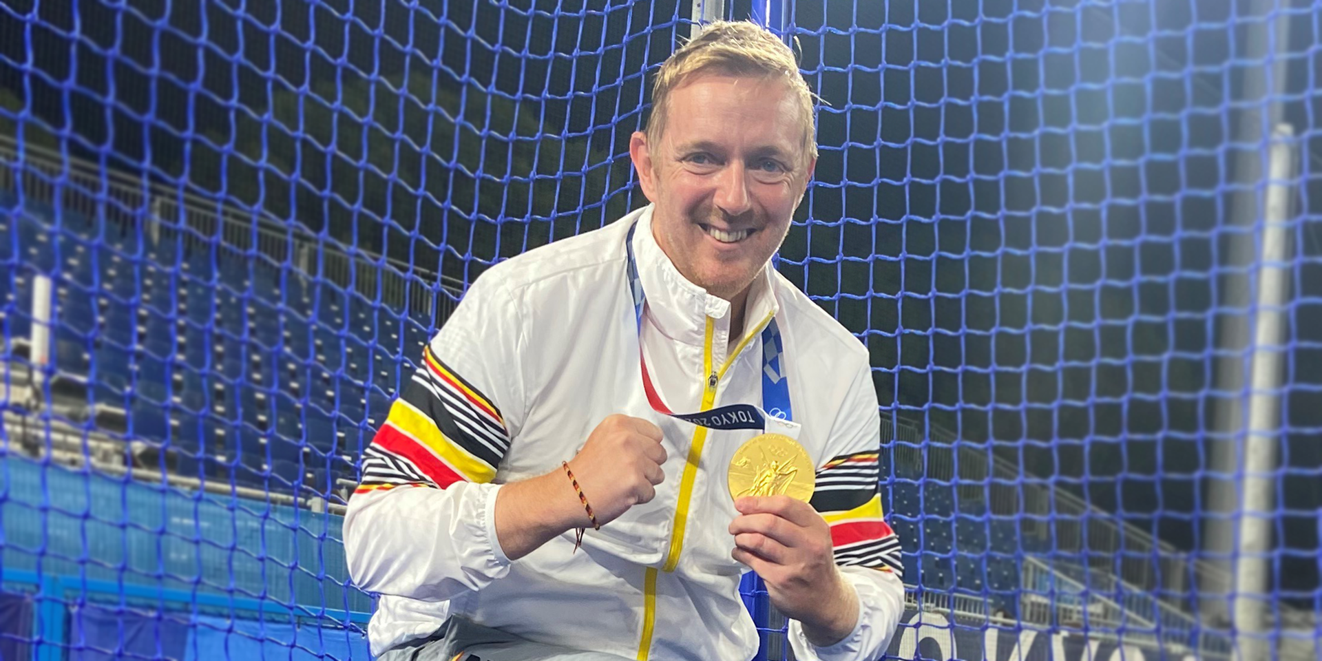 Steven Bayer with his gold medal
