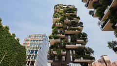 Green apartment building in Milan