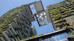 Green apartment complex in Sydney
