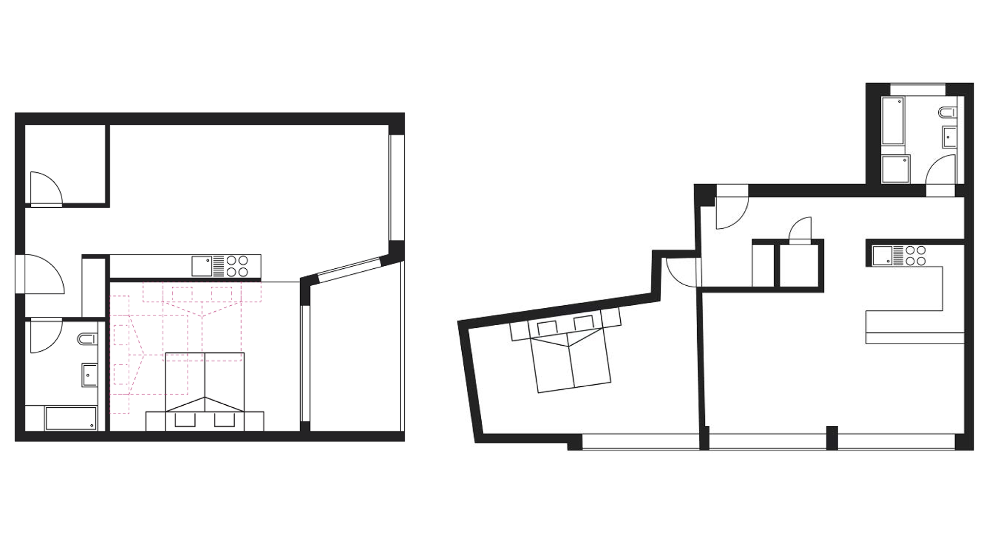The floor plan of the bedroom influences furnishing options