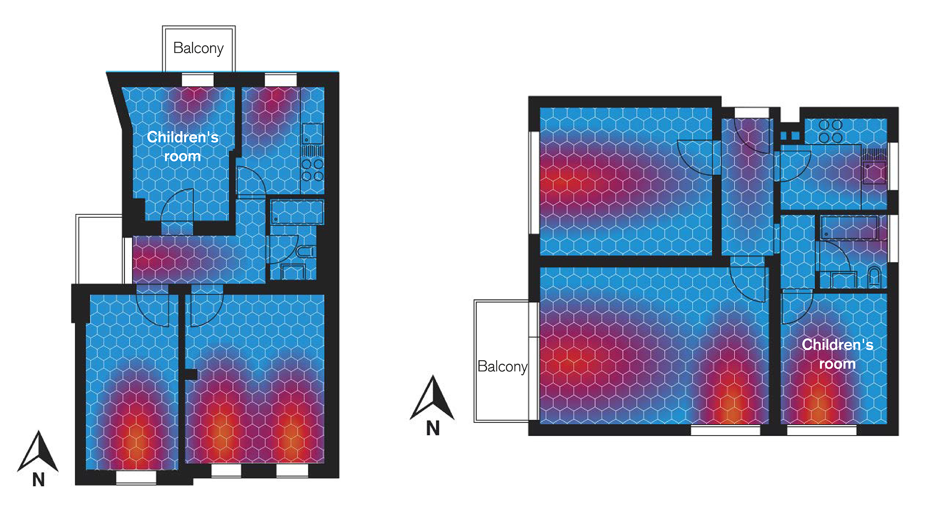 The property's floor plan can optimize the amount of light that comes in