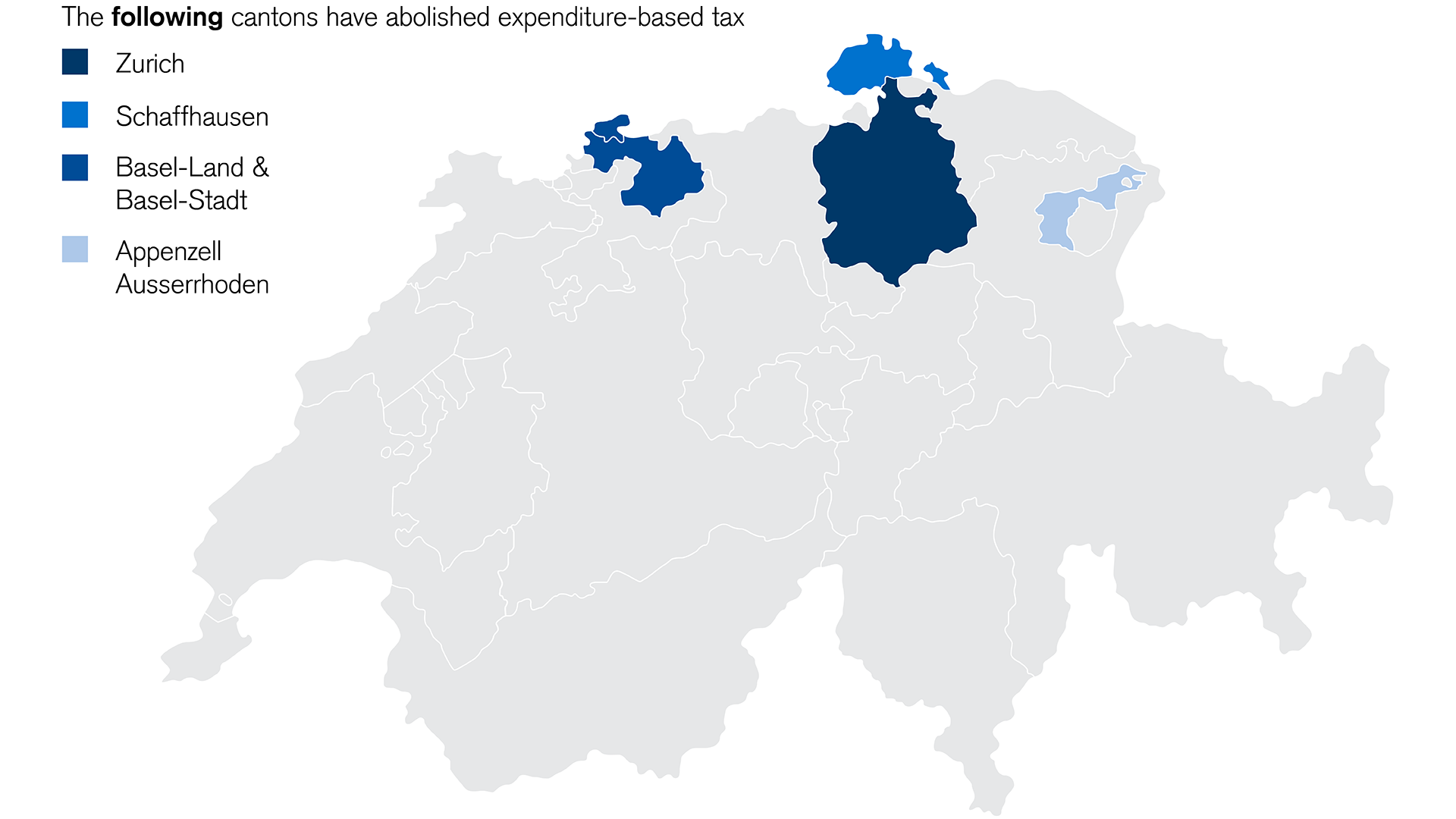Elimination of expenditure-based taxation by canton