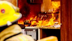 The buildings insurance and household insurance pay when there is a fire.