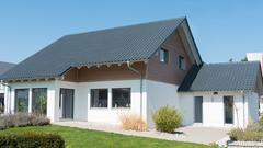 Home addition by lengthening a house