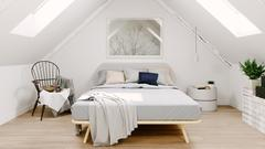 Sloping ceilings create many opportunities when converting an attic