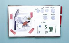 Keep a record of currencies from around the world in your Viva Kids travel diary.
