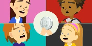The Viva Kids gang with a 5-franc coin in the middle