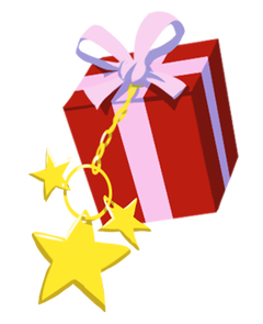 Gift with star charm