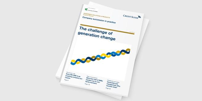 The challenge of generation change - Company Succession in Practice 2016