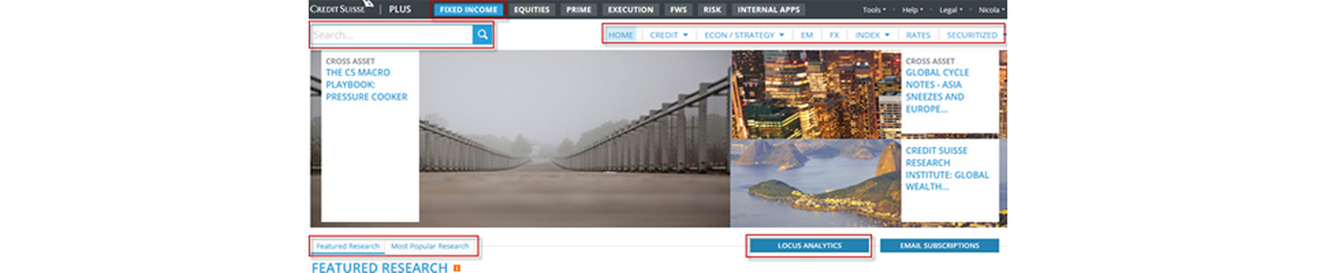 The Fixed Income page has a new layout